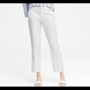36c0341ef54 Banana Republic Pants - Avery Straight-Fit Stretch Linen-Cotton Ankle Pant